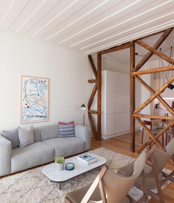 Апартамент в Алфама, Лисабон, реновиран от Arkstudio