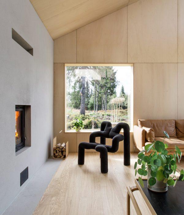 Cabin Vindheim край Лилехамер, Норвегия от студио Vardehaugen